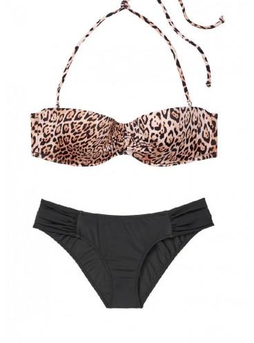 Стильный купальник Malta Bandeau от Victoria's Secret - Natural Leopard