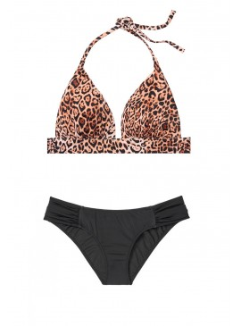 Фото Стильный купальник Havana Push-up Halter от Victoria's Secret - Natural Leopard