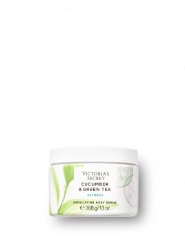 Фото Отшелушивающий скраб для тела из серии Natural Beauty от Victoria's Secret - Cucumber & Green Tea