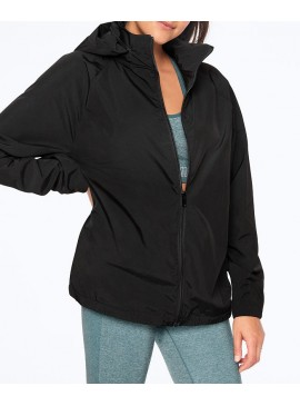 Фото Легкая ветрозащитная куртка-анорак от VS PINK - Pure Black