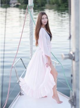Фото Длинная пляжная туника с воланами be Angel Pink