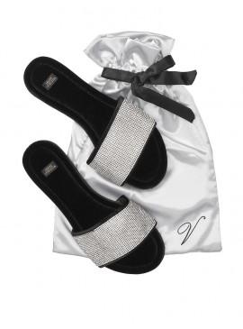 Фото Домашние тапочки Embellished Velvet Slides от Victoria's Secret + мешочек в подарок