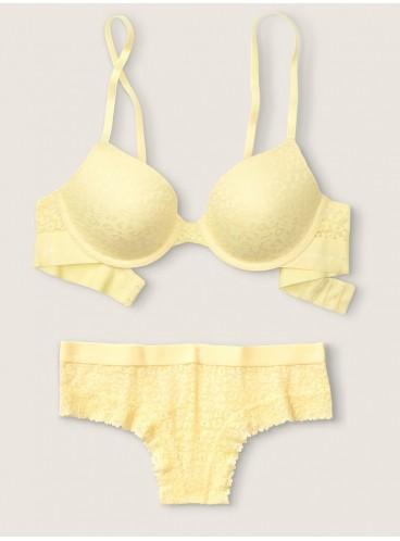 Комплект бeлья из серии Wear Everywhere от Victoria's Secret PINK - Subtle Yellow