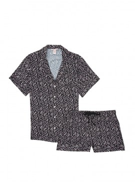Фото Сатиновая пижама с шортиками от Victoria's Secret - Black Hearts