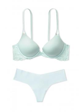 Фото Комплект белья Lace Wing Push-Up от Victoria's Secret - Aqua Crystal