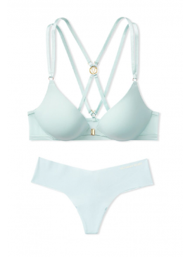 Фото Комплект белья Love by Victoria Push-Up Strappy Plunge от Victoria's Secret - Aqua Crystal
