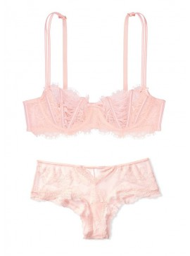 Фото Комплект белья Wicked Unlined Lace-Up Balconette от Victoria's Secret - Purest Pink