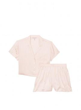 Фото Пижамка с шортиками Cropped Satin Jacquard от Victoria's Secret - Pink Fizz