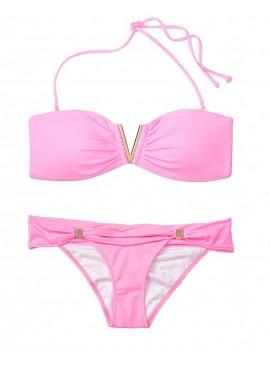 Фото NEW! Стильный купальник Venice V-hardware Bandeau от Victoria's Secret - Pink Splash