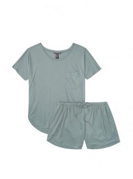 Фото Пижамка с шортиками Sandwash Modal Pocket от Victoria's Secret - Seafoam Green