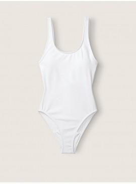 Фото Стильный купальник-монокини Scoop Neck от Victoria's Secret PINK - Optic White