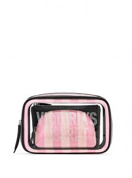 Фото Набор из 3-х косметичек от Victoria's Secret - Signature Stripe