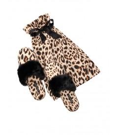 Мягенькие тапочки от Victoria's Secret + мешочек в подарок Champagne Leopard
