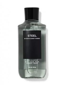 Фото 3в1 Мужское средство для мытья волос, лица и тела Steel от Bath and Body Works