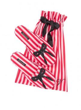 Фото Мягенькие тапочки Signature Satin & Bow от Victoria's Secret + мешочек в подарок