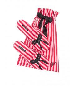 Мягенькие тапочки Signature Satin & Bow от Victoria's Secret + мешочек в подарок