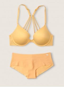Фото Комплект бeлья с Push-Up из серии Wear Everywhere от Victoria's Secret PINK - Honeycomb