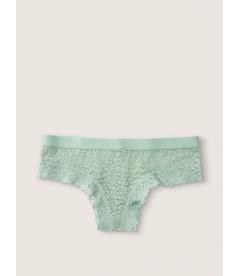 Кружевные трусики-чикстер от Victoria's Secret PINK - Seasalt Green