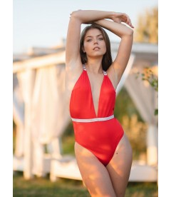 NEW! Стильный монокини Shine Strap Montanita Plunge от Victoria's Secret - Red