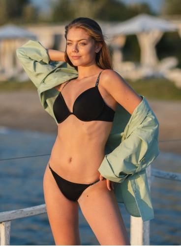 NEW! Стильный купальник Malibu Fabulous Logo от Victoria's Secret - Nero