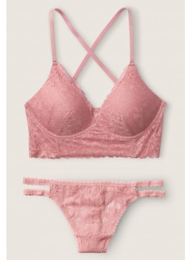 Фото Комплект бeлья Lace Wireless Push-Up Bralette от Victoria's Secret PINK - Damsel Pink