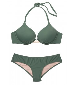 Стильный купальник Bali Bombshell Add-2-cups Push-Up от Victoria's Secret - Olive