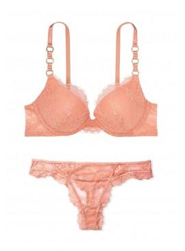 Фото Комплект белья Lace Ring Hardware Push-Up от Victoria's Secret - Peach Pink