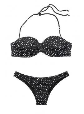 Фото Стильный купальник Mallorca Twist-front Bandeau от Victoria's Secret - Black & White Dot
