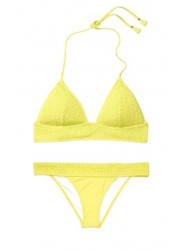 Фото Стильный купальник Ensenada Smocked Longline Triangle от Victoria's Secret - Limeade